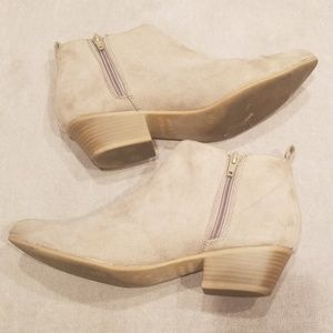 Old navy Beige ankle booties!